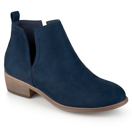 Journee Collection Womens Rimi Booties Block Heel Wide Width, 8 Wide, Blue