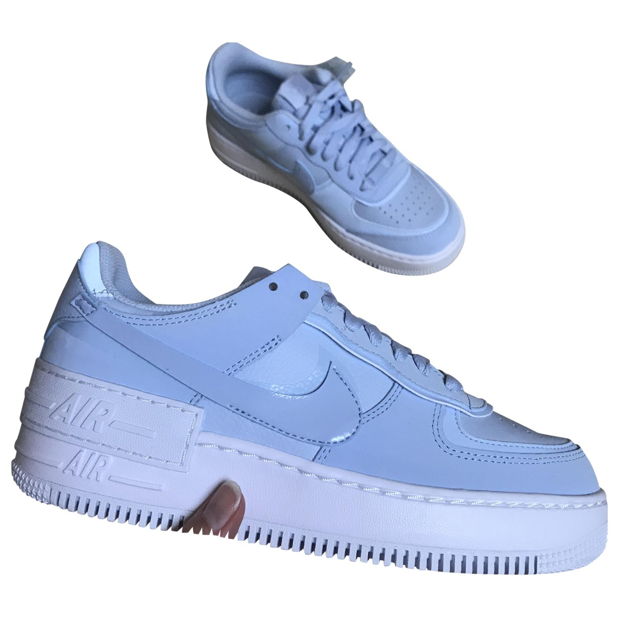 Nike Air Force 1 Blue Leather Trainers for Women 38 EU