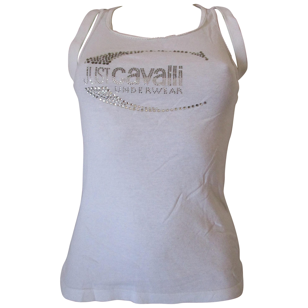 Roberto Cavalli \N White Cotton  top for Women 44 IT