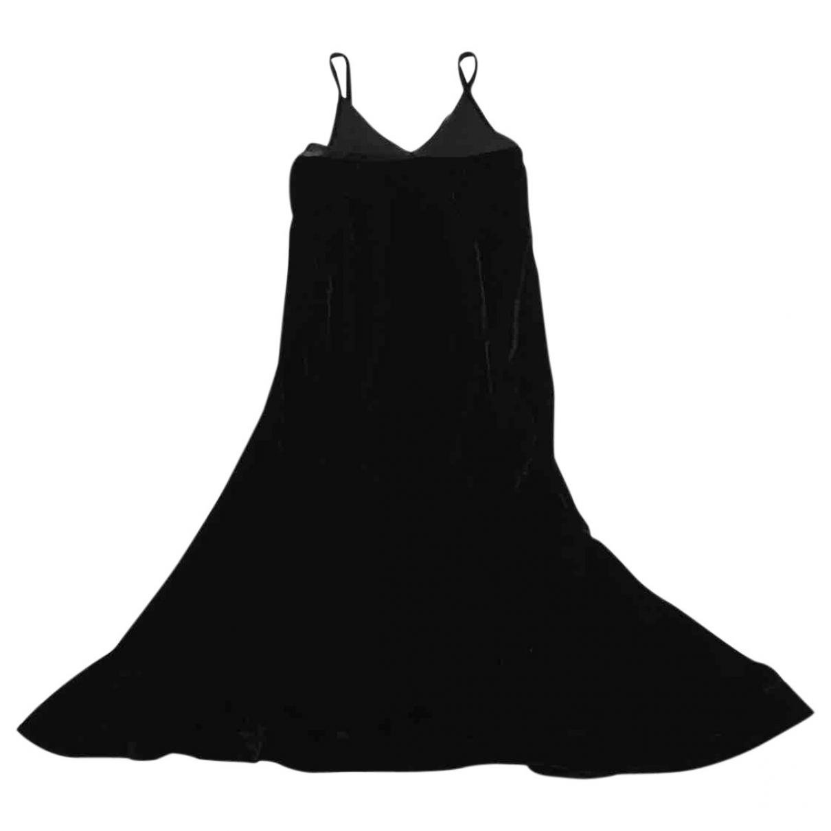 Prada \N Kleid in  Schwarz Samt