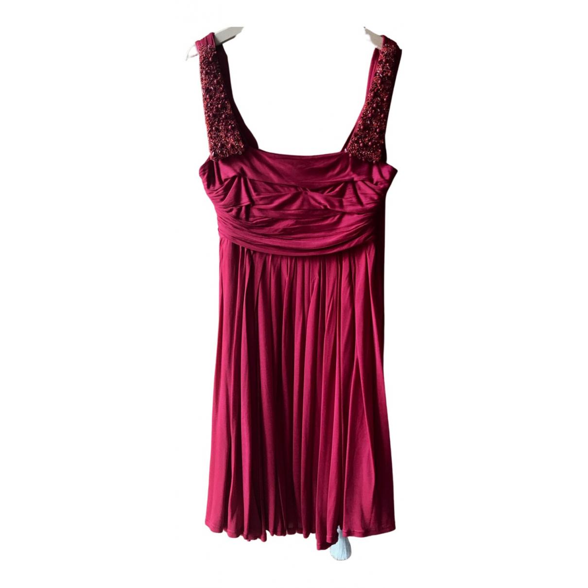 Celine \N Kleid in  Rot Viskose