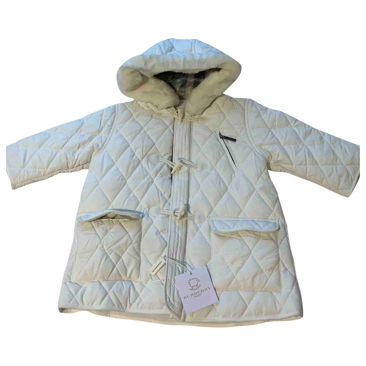 Burberry \N White Cotton jacket & coat for Kids 12 months - until 29 inches UK