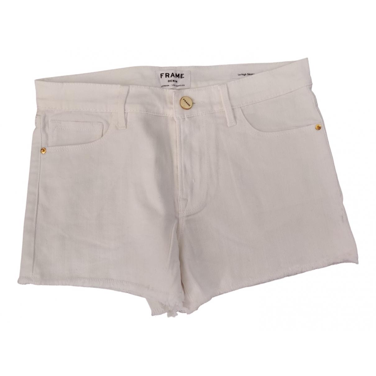 Frame Denim \N Shorts in  Weiss Baumwolle