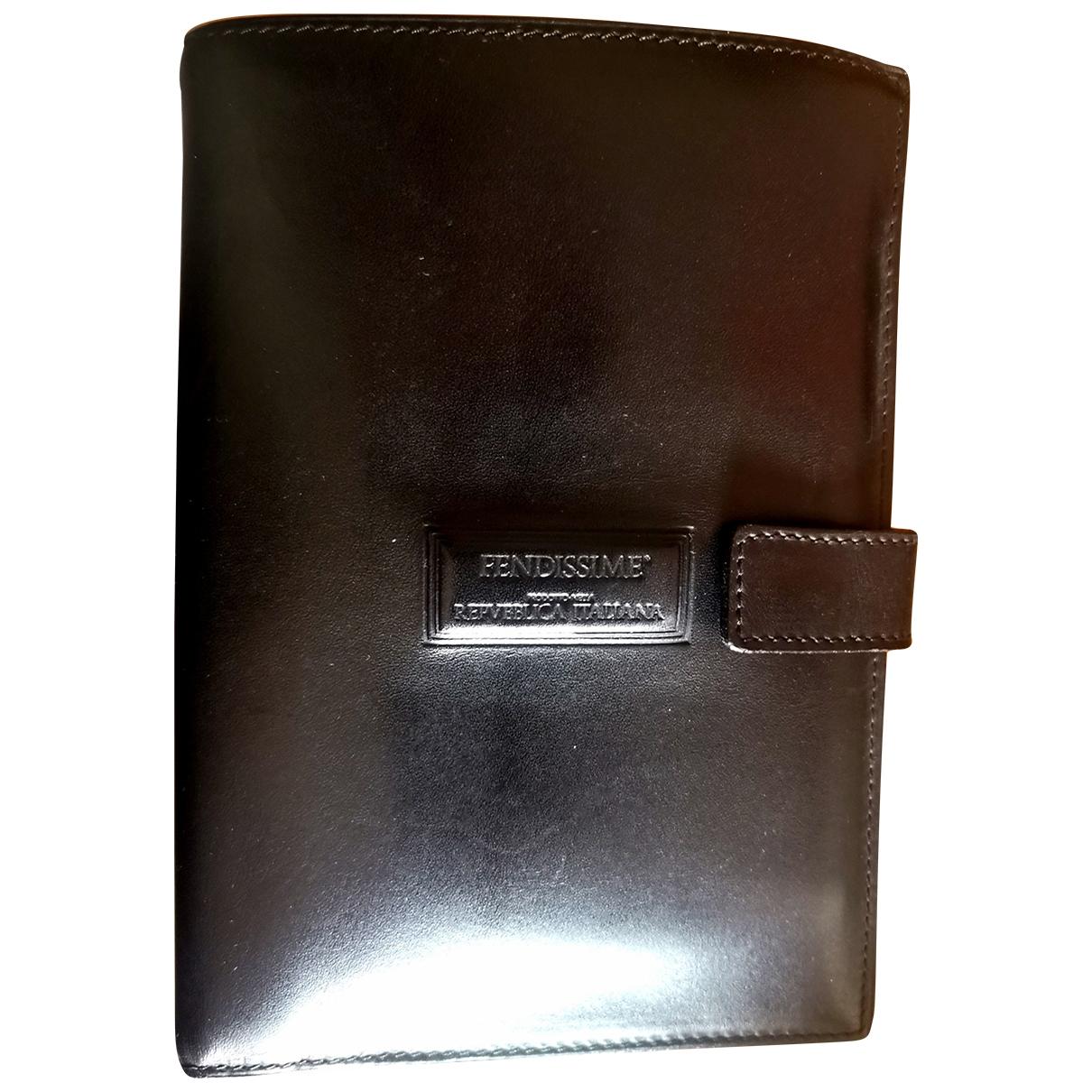 Fendissime \N Black Leather wallet for Women \N
