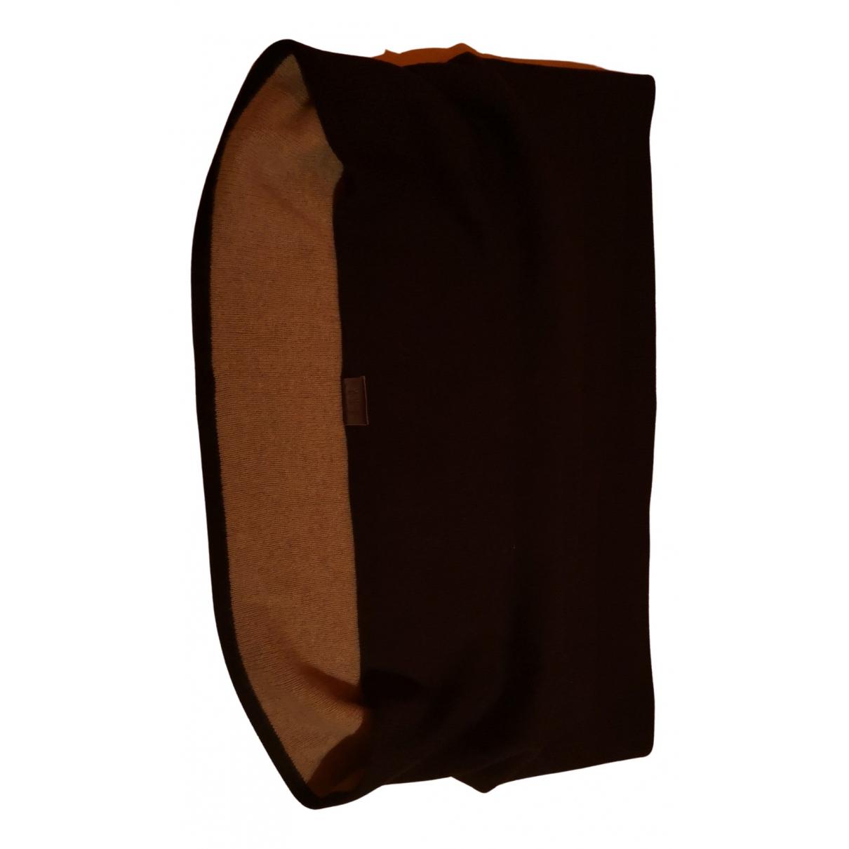 Armani Collezioni - Foulard   pour femme en laine - marron
