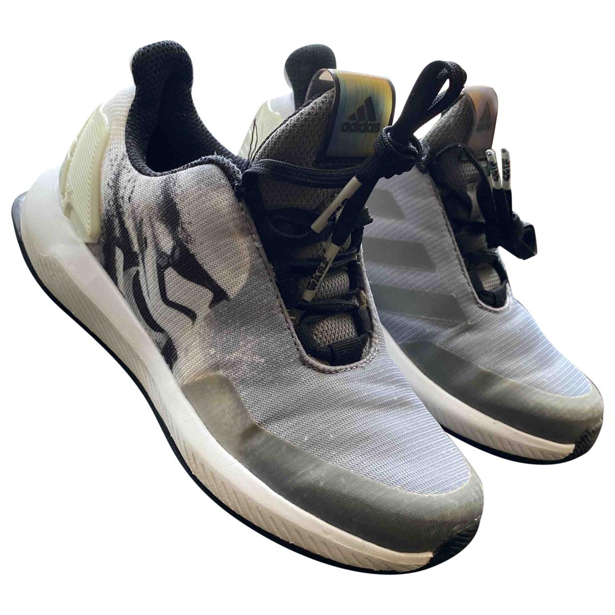 Adidas - Baskets   pour enfant en toile - gris