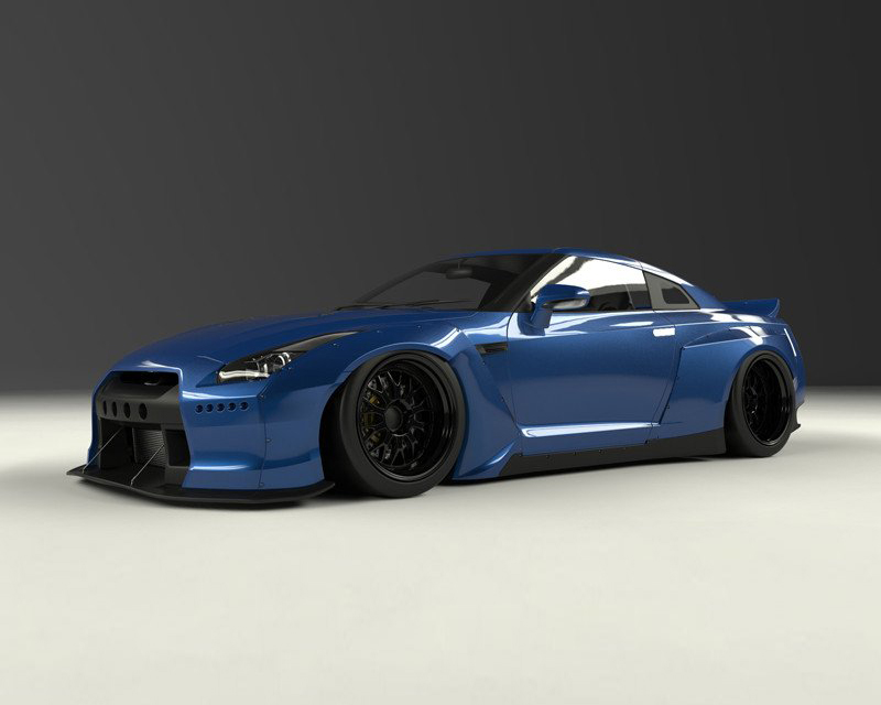 Pandem 17020600 V2 Full FRP Wide-body Kit without Wing Nissan GT-R R35 09-16