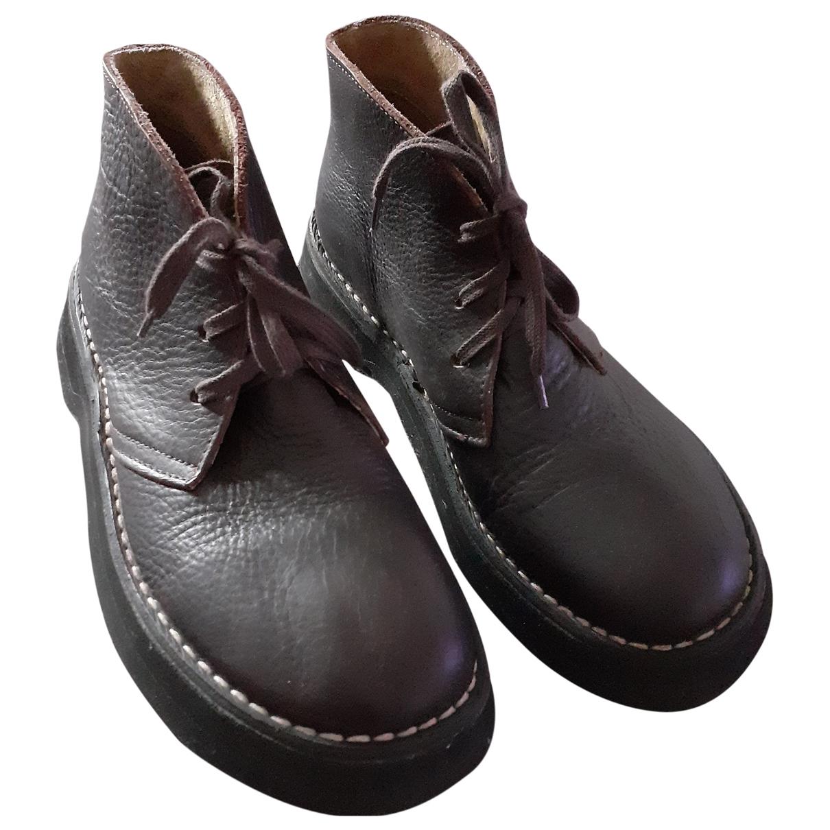 Camper - Boots   pour femme en cuir - marron
