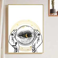 Hand & Eye Print Wall Painting Without Frame