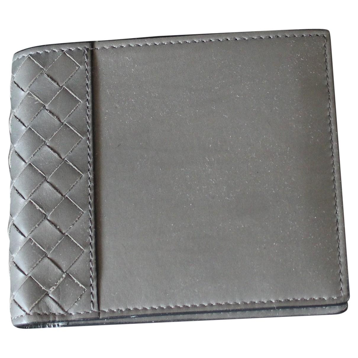 Bottega Veneta - Petite maroquinerie   pour homme en cuir - gris