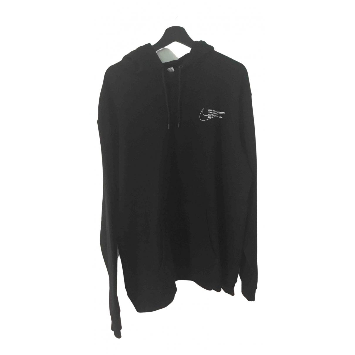 Nike X Off-white \N Pullover.Westen.Sweatshirts  in  Schwarz Baumwolle