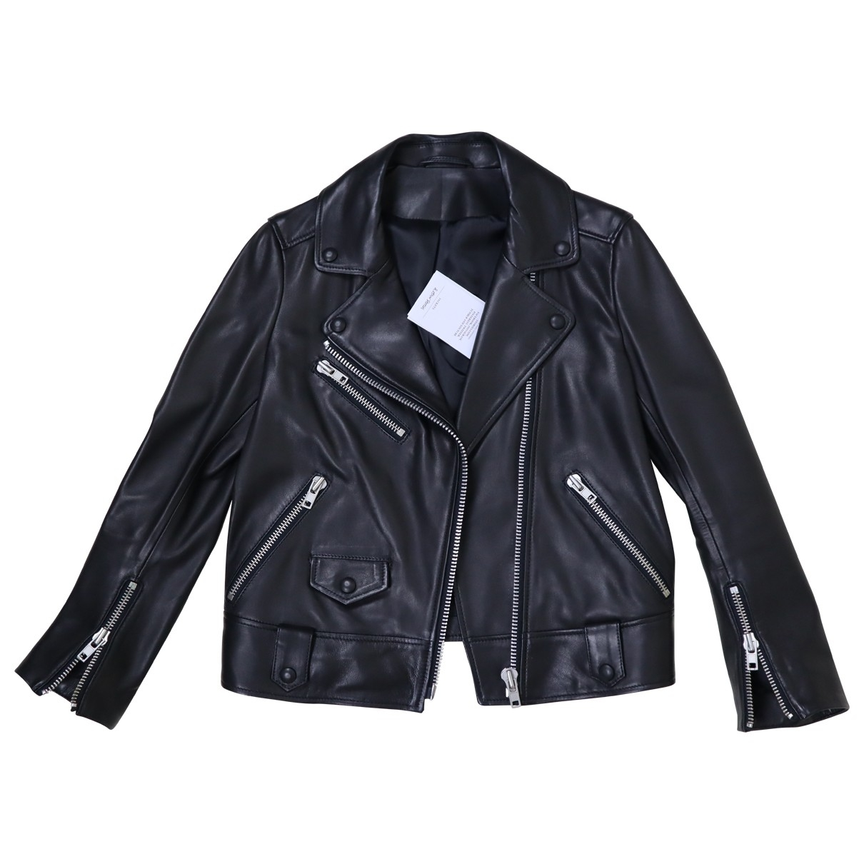 & Stories \N Black Leather Leather jacket for Women 34 FR