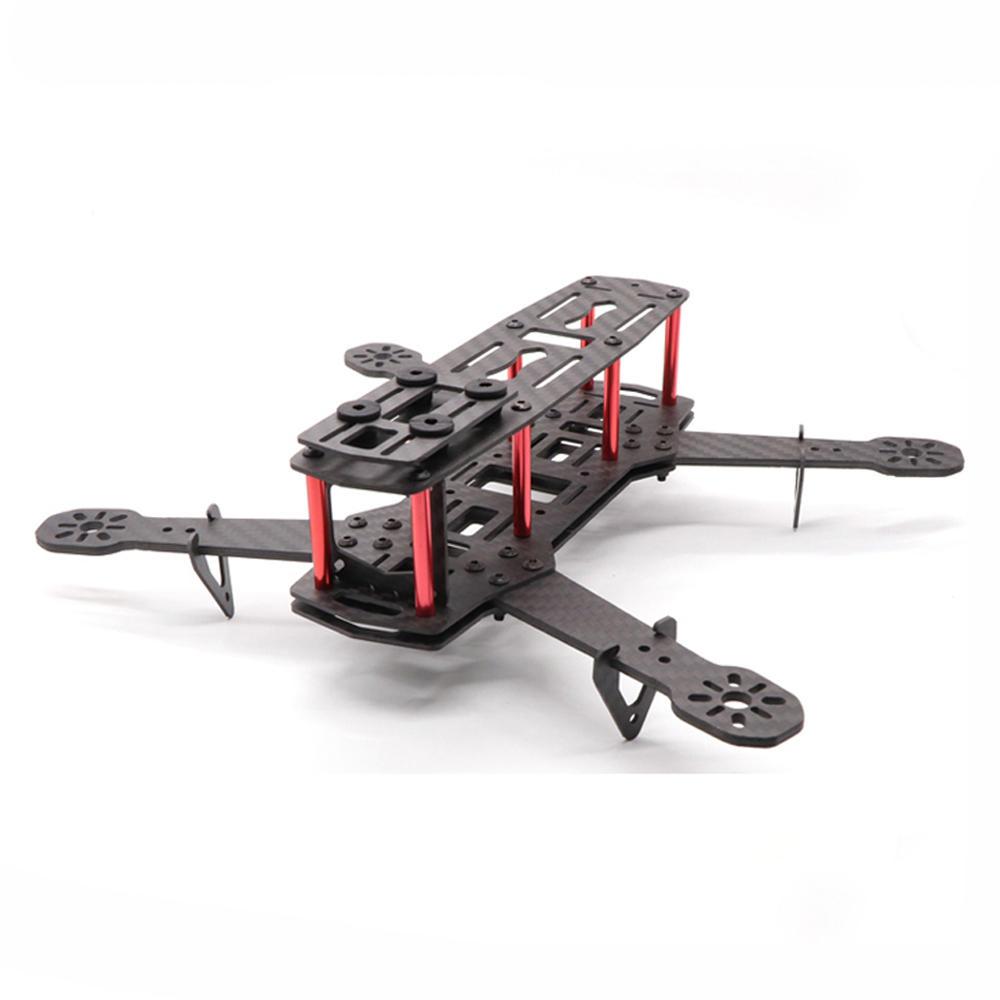 HSKRC QAV250 V3 250mm Wheelbase 5 Inch 3/4mm Arm Frame Kit Carbon Fiber for RC Drone FPV Racing
