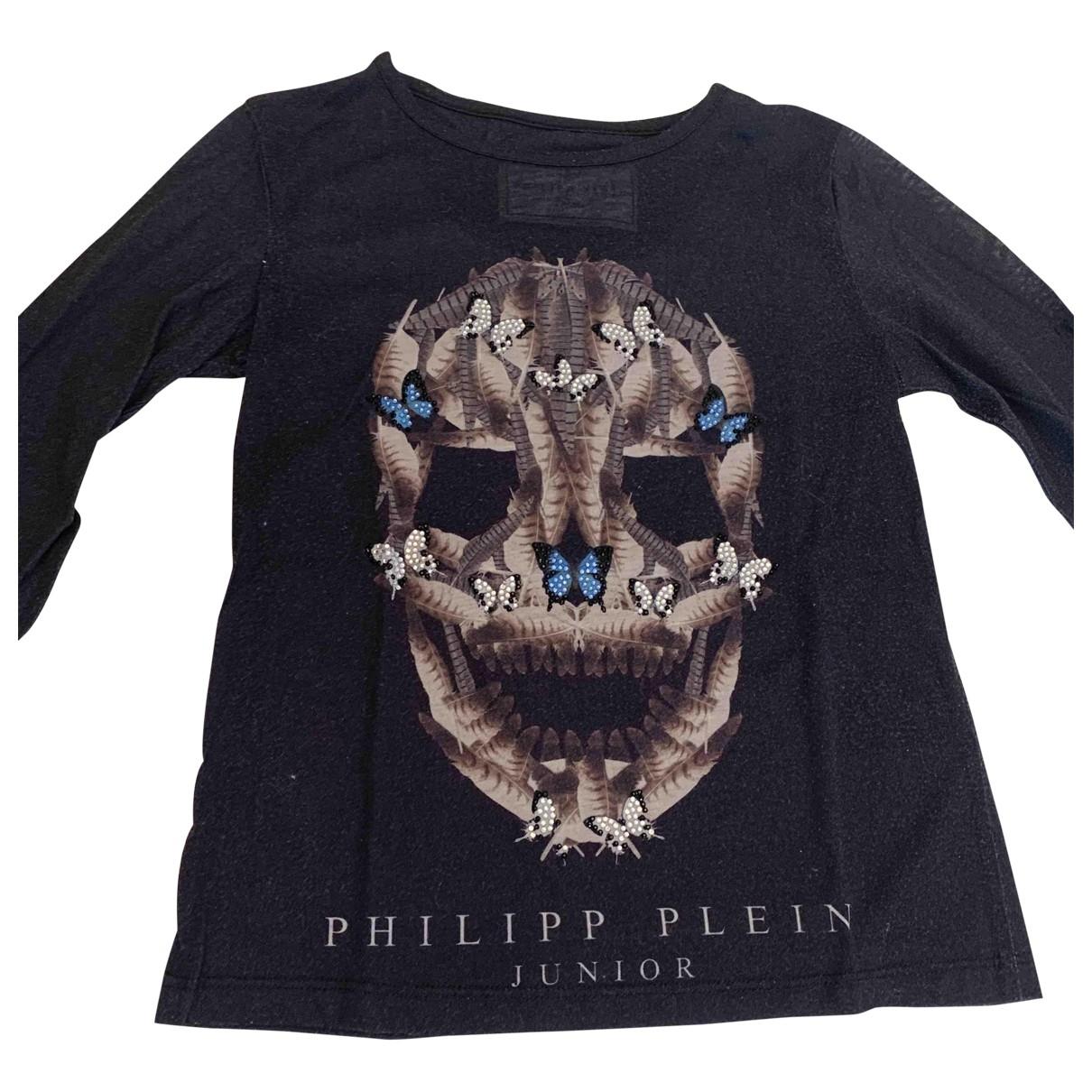 Philipp Plein - Top   pour enfant en coton - noir