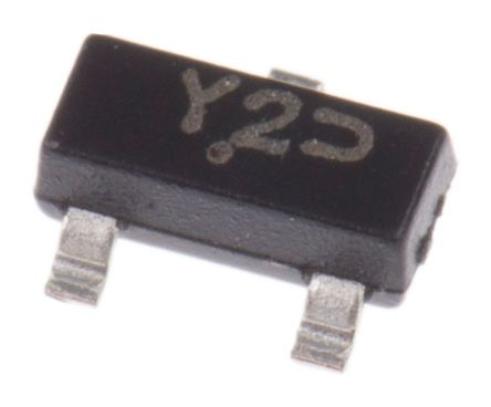 ON Semiconductor , 12V Zener Diode 5% 300 mW SMT 3-Pin SOT-23