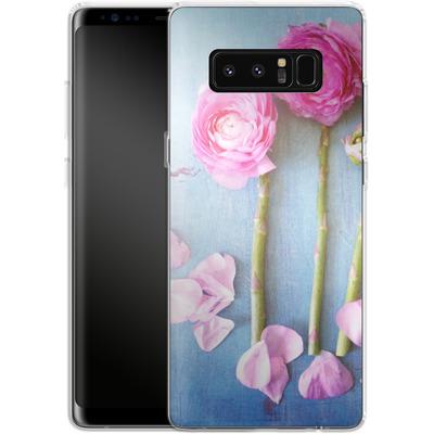 Samsung Galaxy Note 8 Silikon Handyhuelle - Cottage Flowers von Joy StClaire