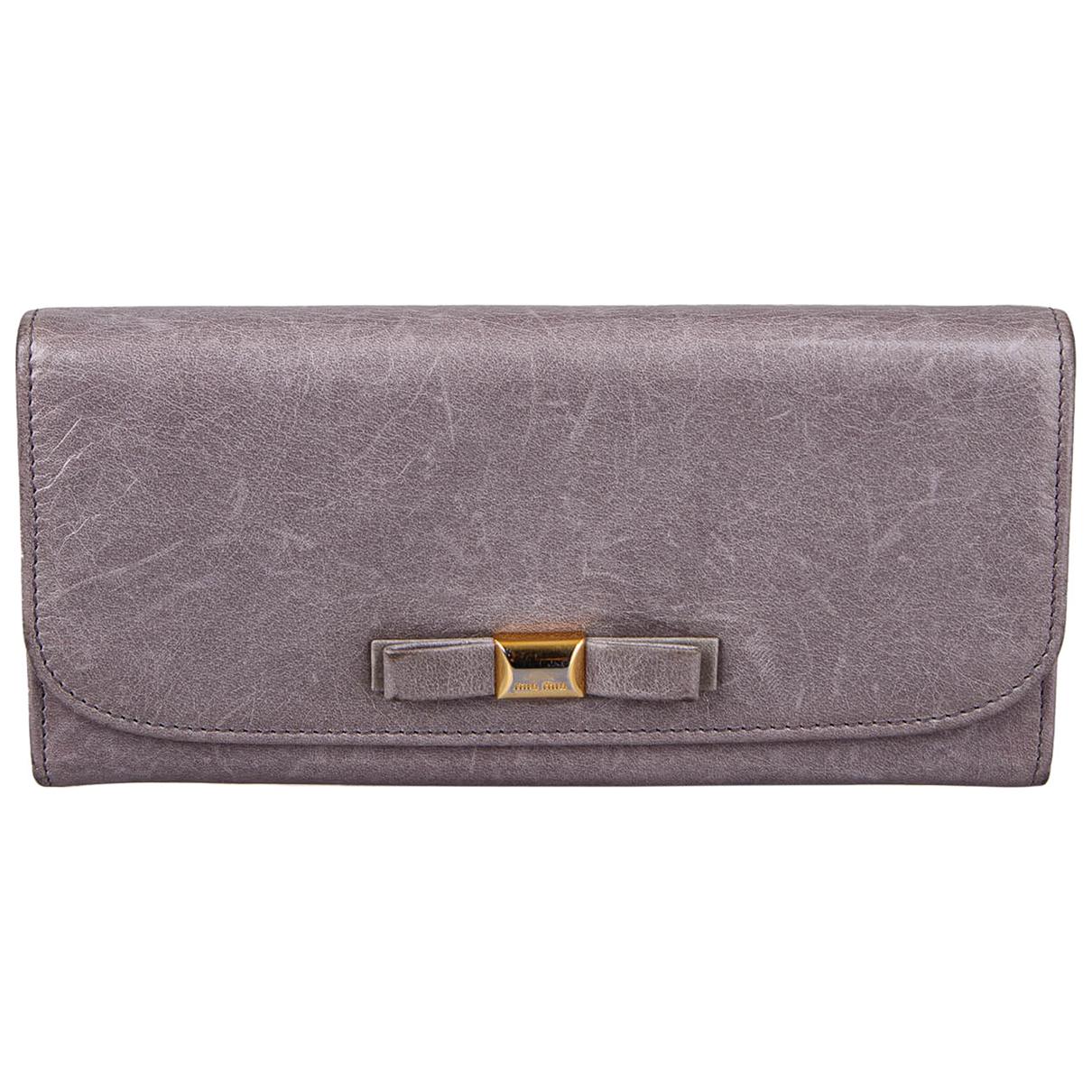 Miu Miu N Grey Leather wallet for Women N