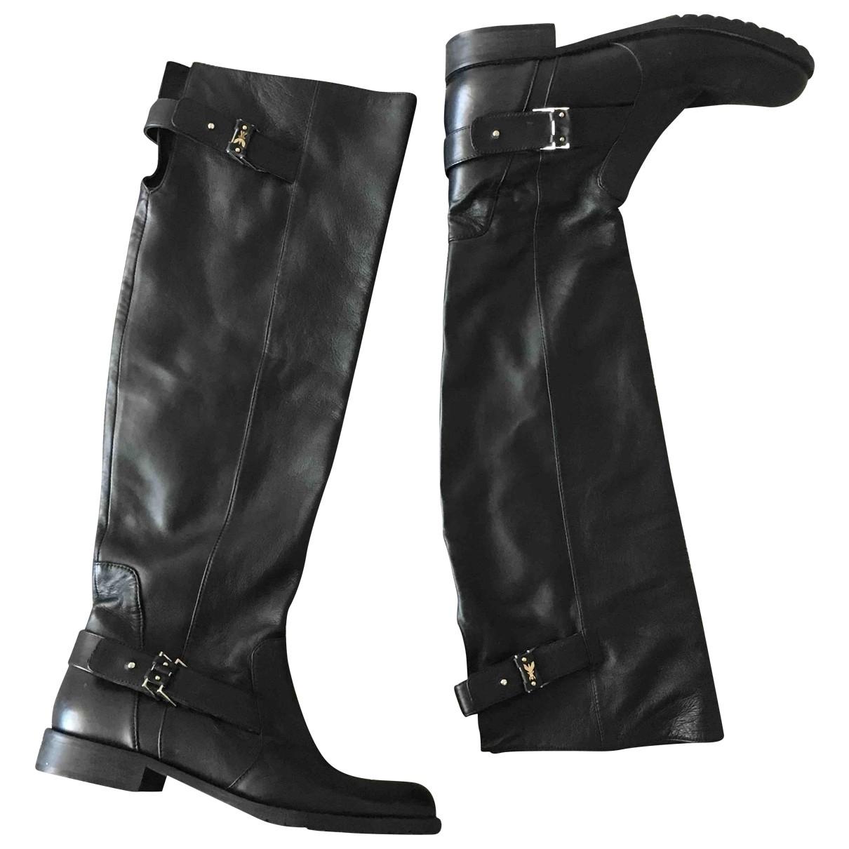 Patrizia Pepe \N Black Leather Boots for Women 40 EU