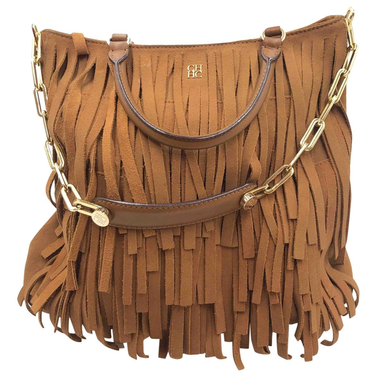 Carolina Herrera \N Handtasche in  Braun Leder