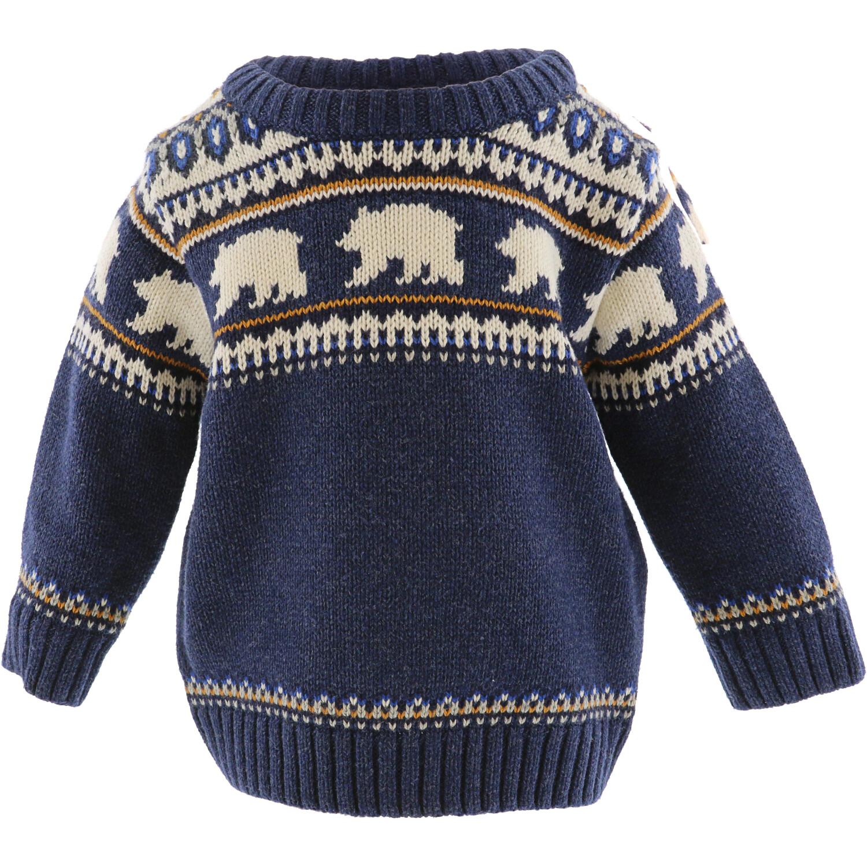 Janie And Jack Boy's Navy Polar Bear Sweater - 3-6 Months