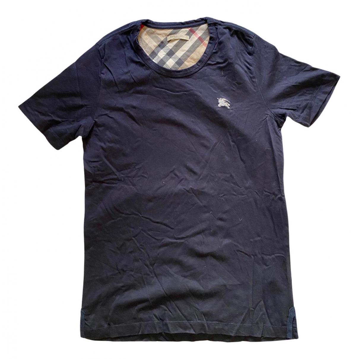 Burberry \N T-Shirts in  Marine Baumwolle