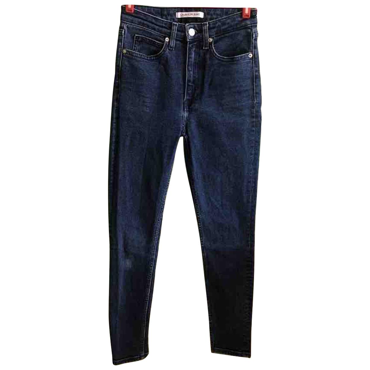 Calvin Klein \N Blue Cotton - elasthane Jeans for Women 26 US