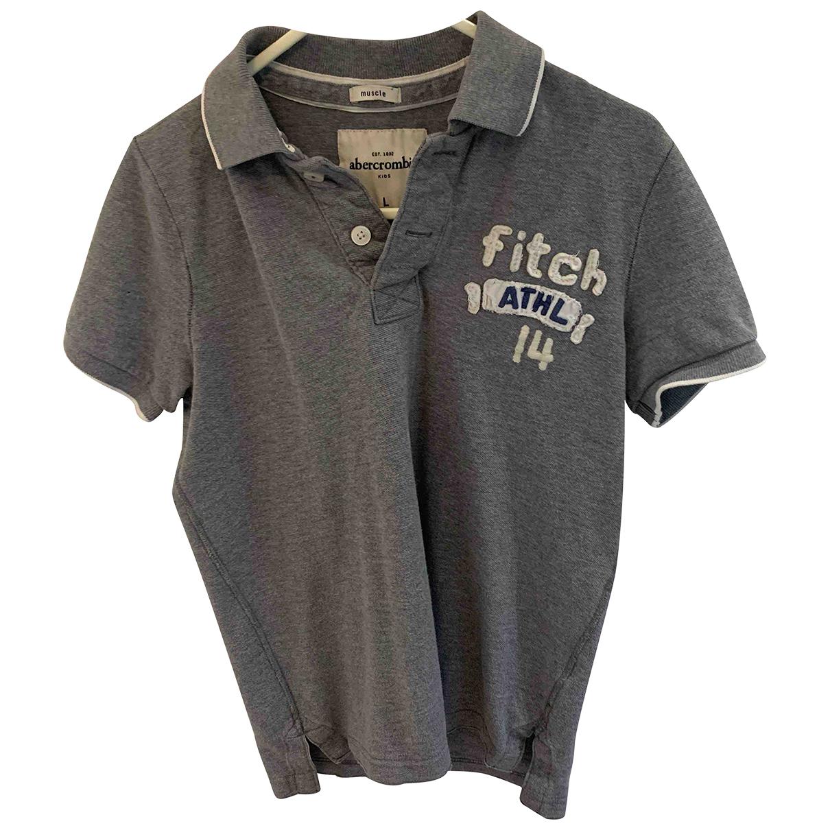 Abercrombie & Fitch - Top   pour enfant en coton - gris