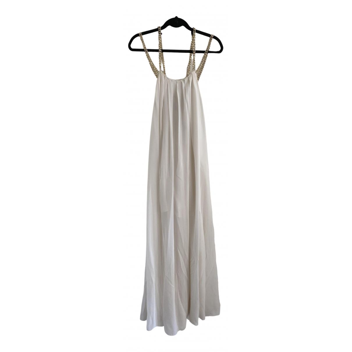 Pierre Balmain - Robe   pour femme en soie - blanc