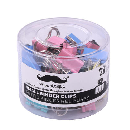 Assorted Color Small Binder Clips, 3/4