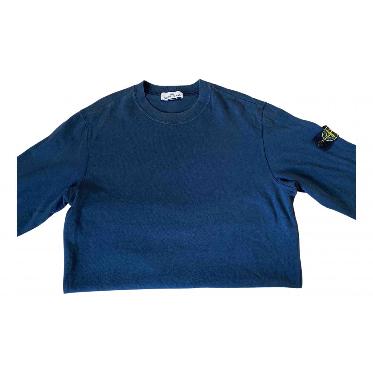 Stone Island - Pulls.Gilets.Sweats   pour homme en coton - bleu