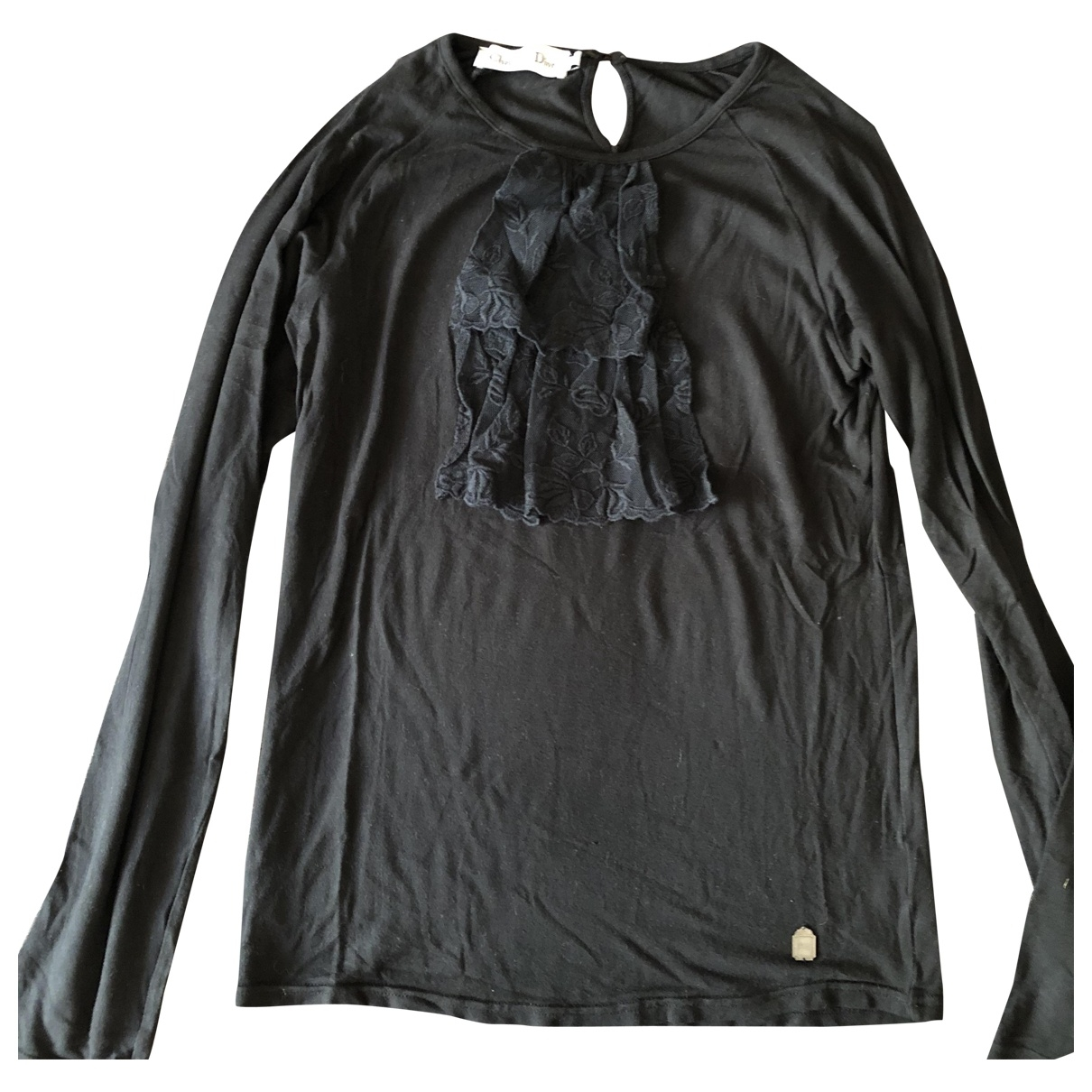 Dior \N Black Cotton  top for Kids 12 years - XS FR