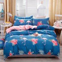Flamingo Print Bedding Set Without Filler