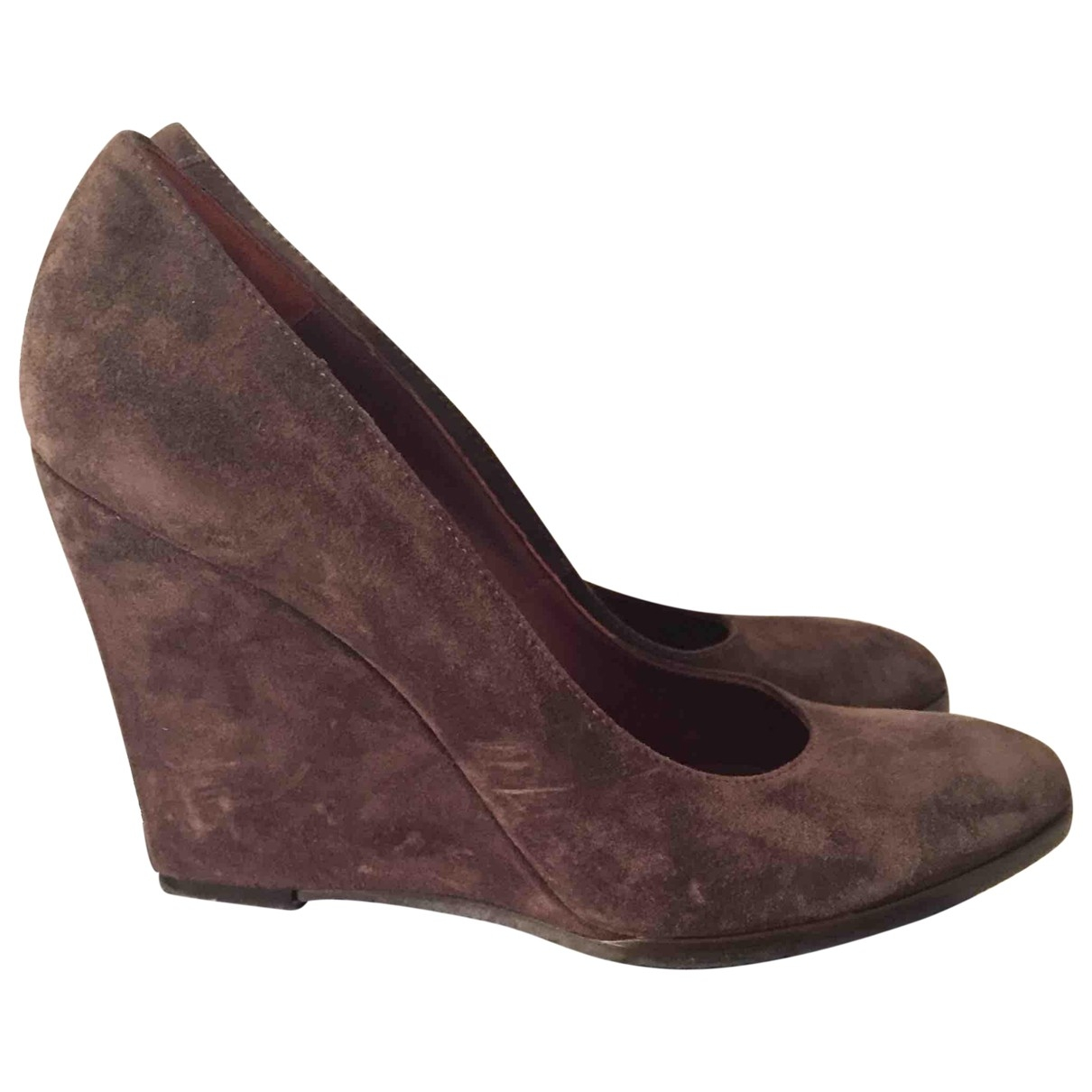 Non Signé / Unsigned \N Brown Suede Heels for Women 40 EU