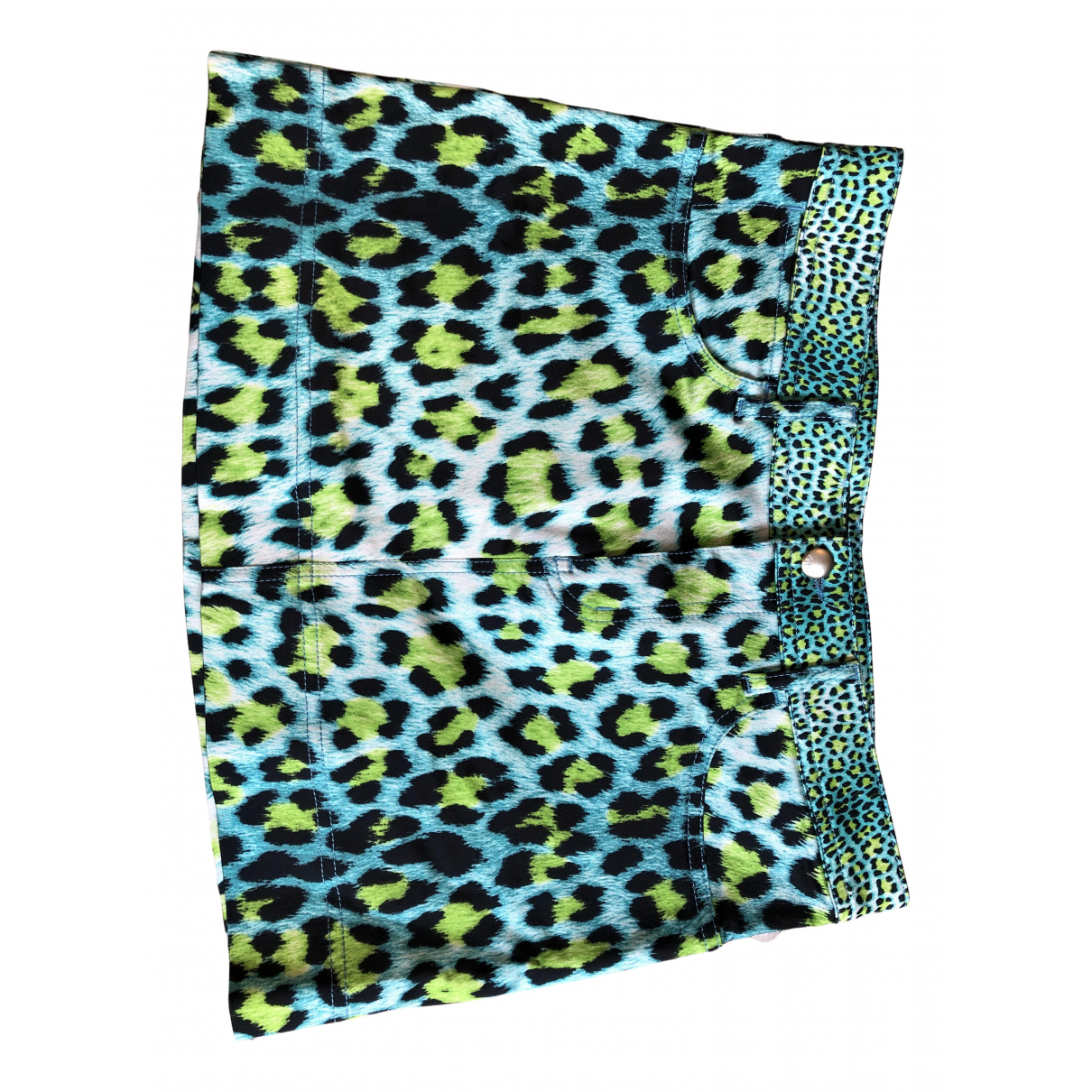 Just Cavalli N Turquoise Cotton skirt for Women 42 IT