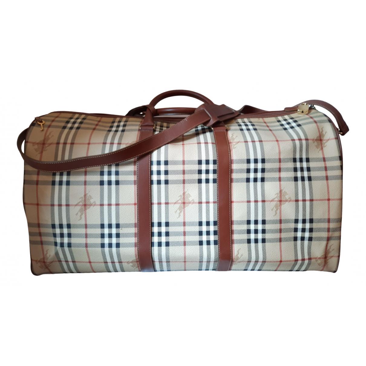 Burberry \N Beige Cloth bag for Men \N