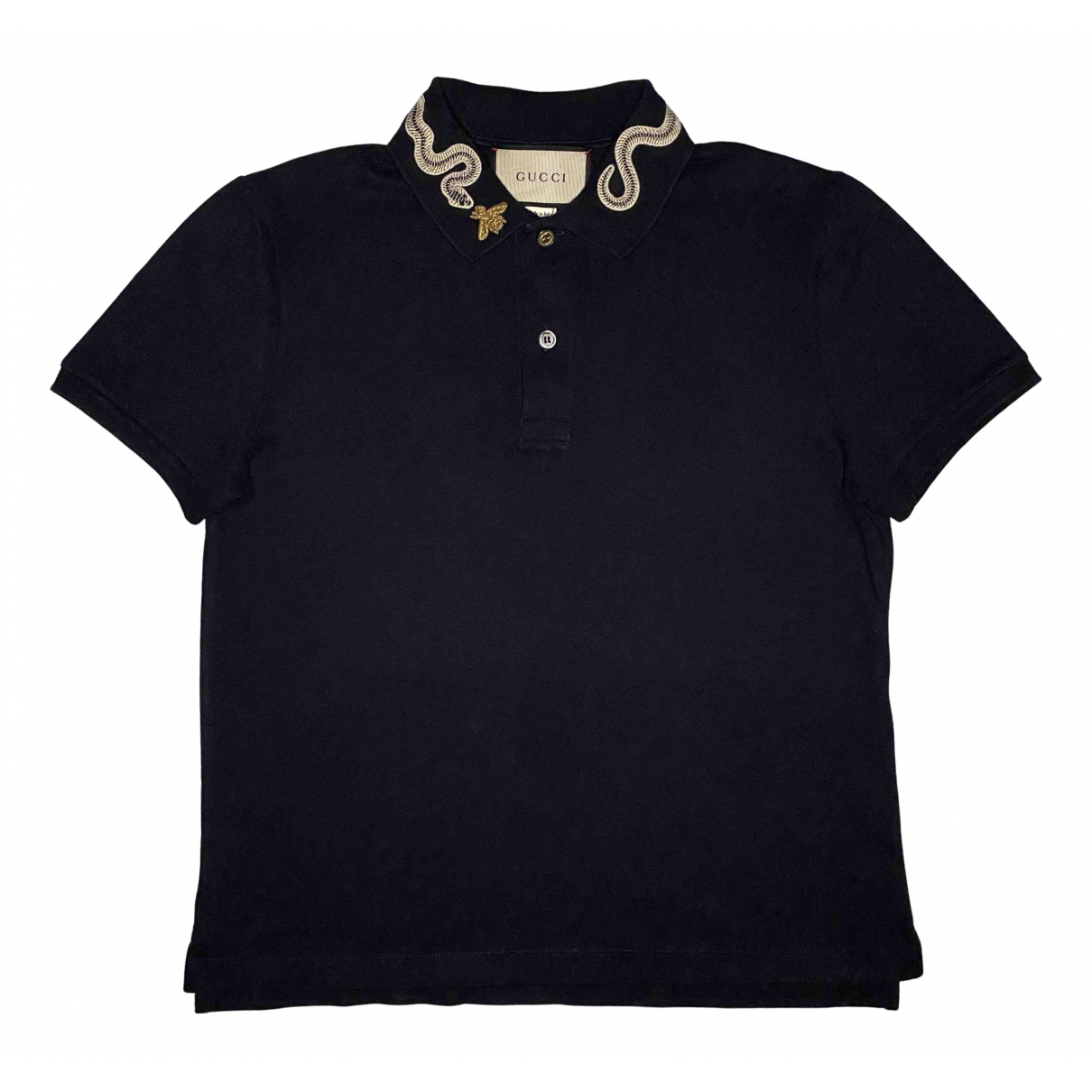 Polo en Algodon Marino Gucci
