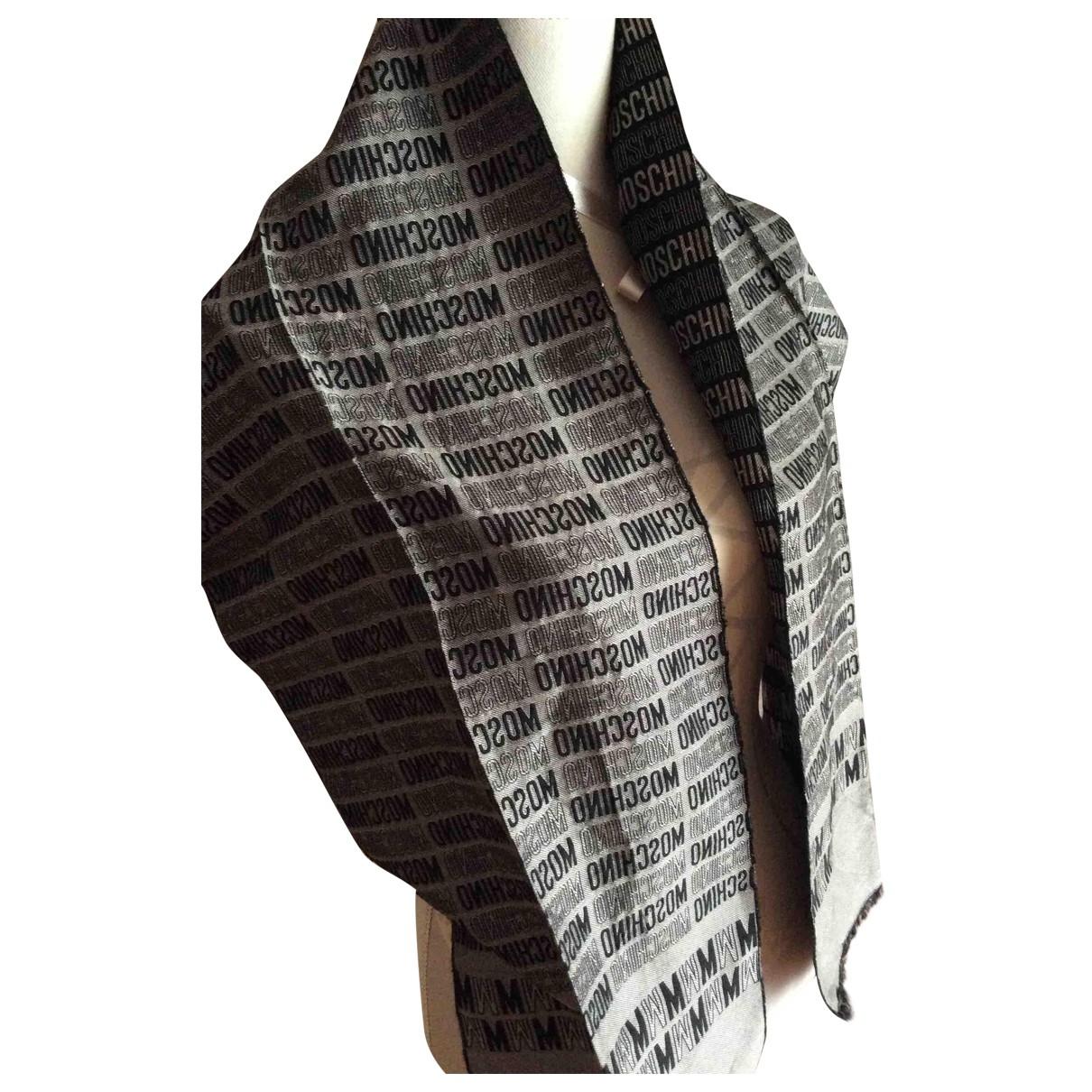 Moschino - Foulard   pour femme en soie - gris