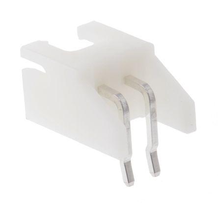JST , XH, S2B, 2 Way, 1 Row, Right Angle PCB Header (5)