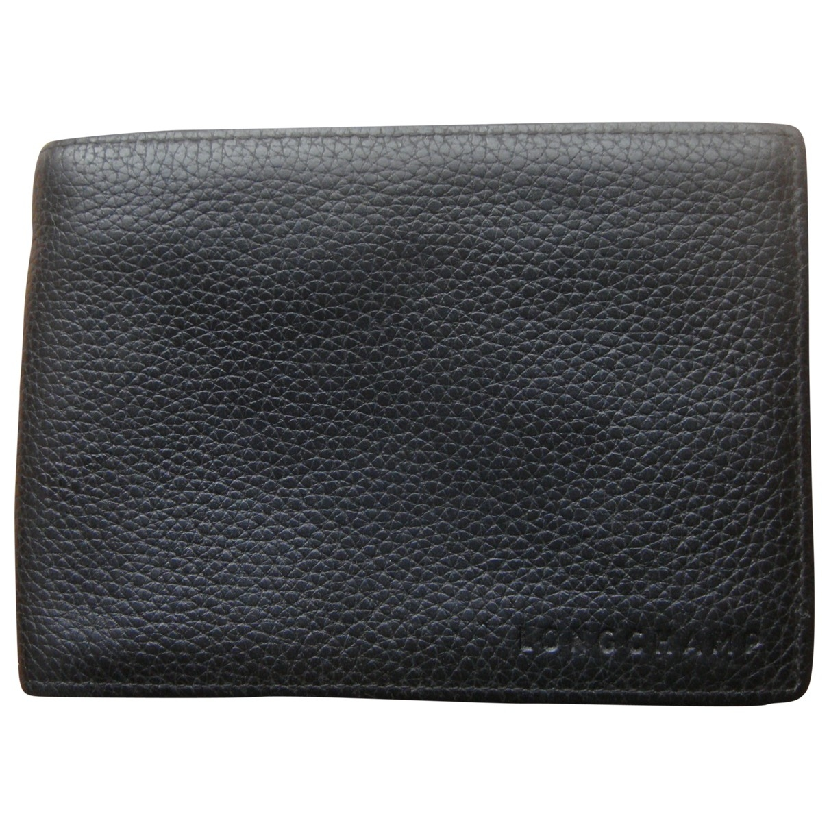 Longchamp \N Black Leather Small bag, wallet & cases for Men \N