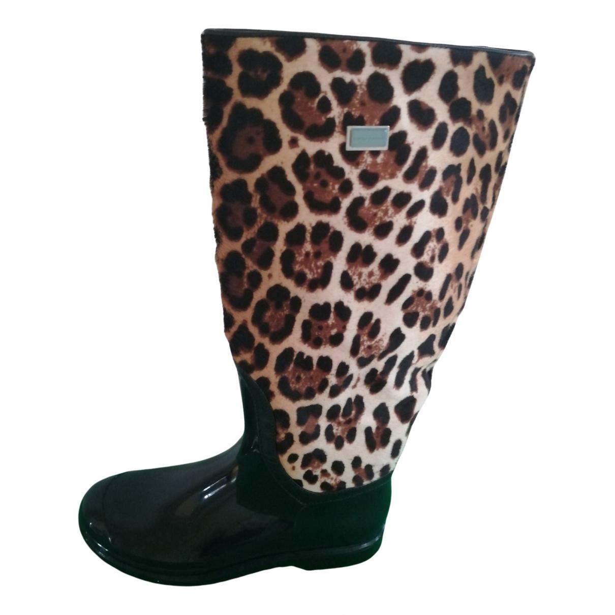 Dolce & Gabbana N Black Rubber Boots for Women 39 EU