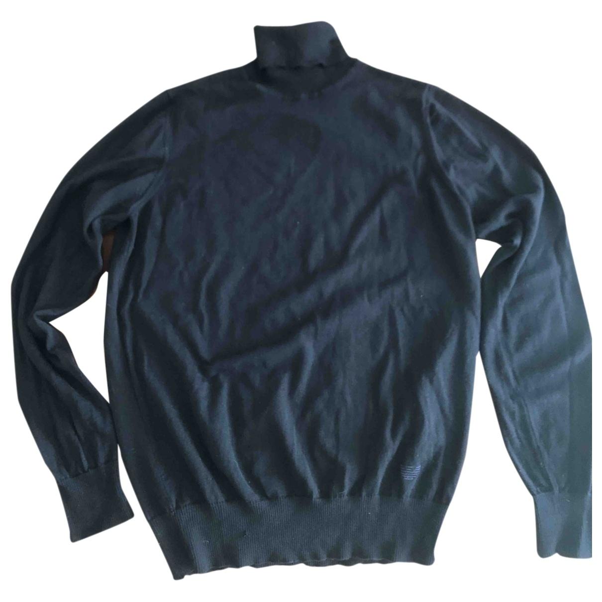 Emporio Armani \N Pullover.Westen.Sweatshirts  in  Blau Wolle