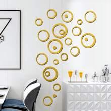 24pcs 3D Mirror Surface Wall Sticker