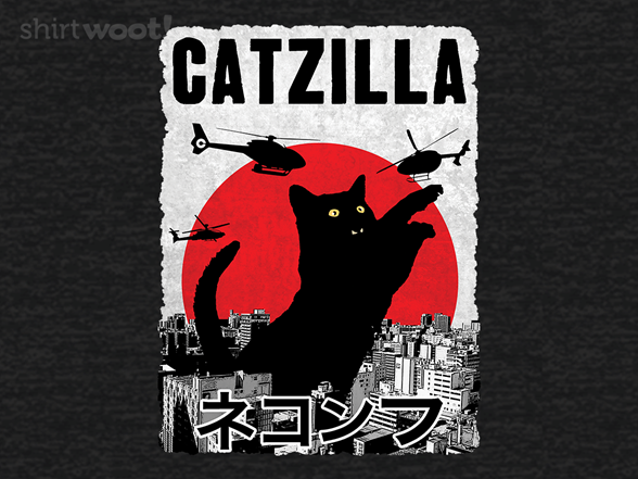Catzilla Attacks! T Shirt