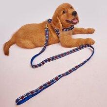 1pc Geometric Dog Harness & 1pc Dog Leash
