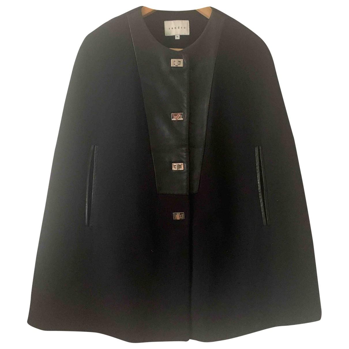 Sandro \N Black Cotton jacket for Women 36 FR