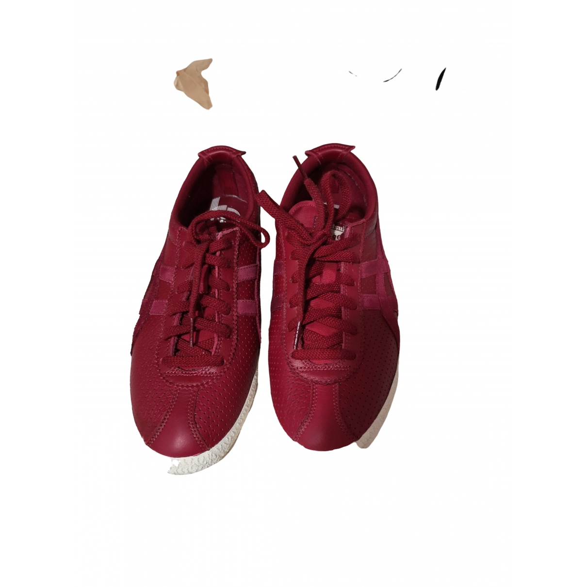 Onitsuka Tiger \N Red Leather Trainers for Men 9 US
