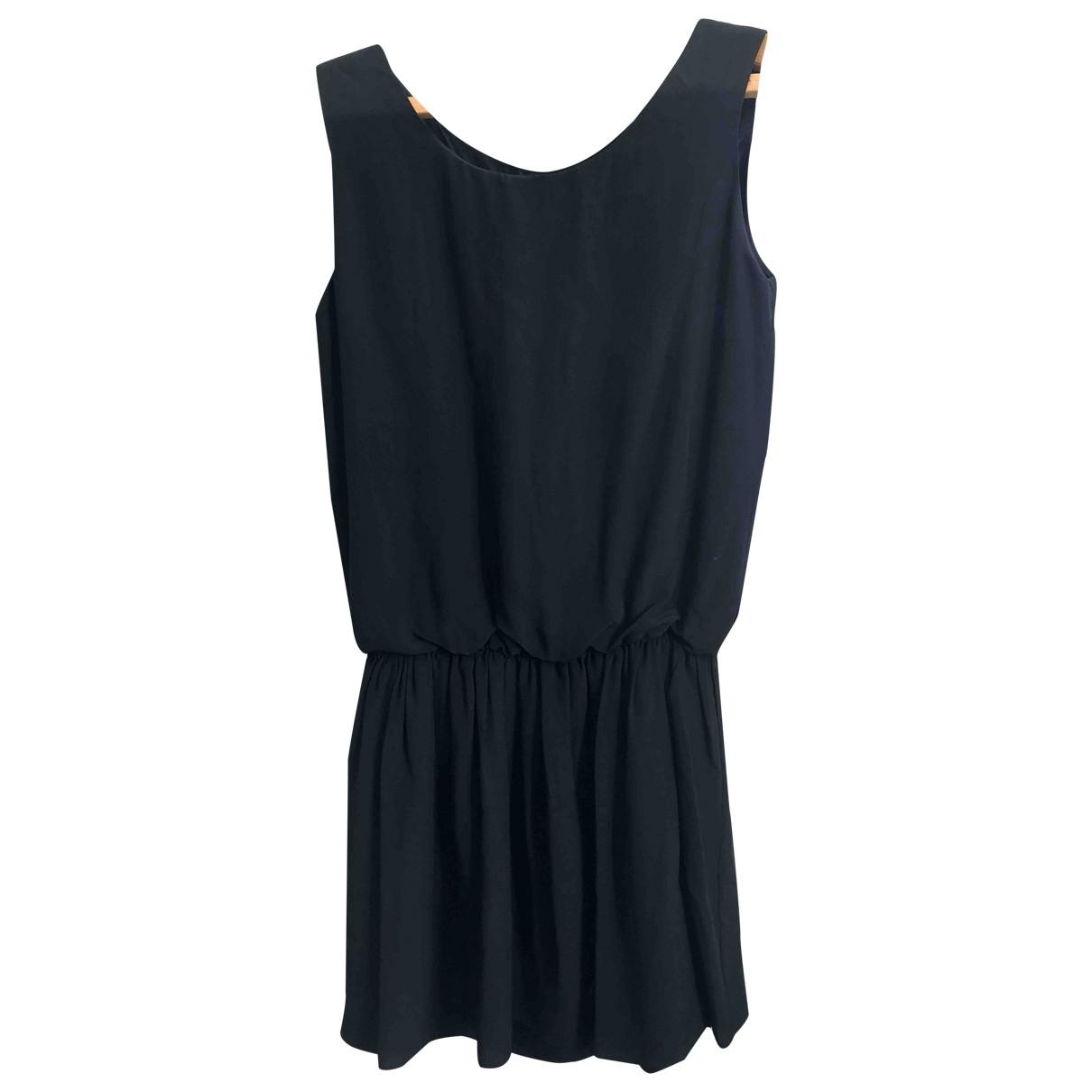 Masscob \N Kleid in  Schwarz Seide