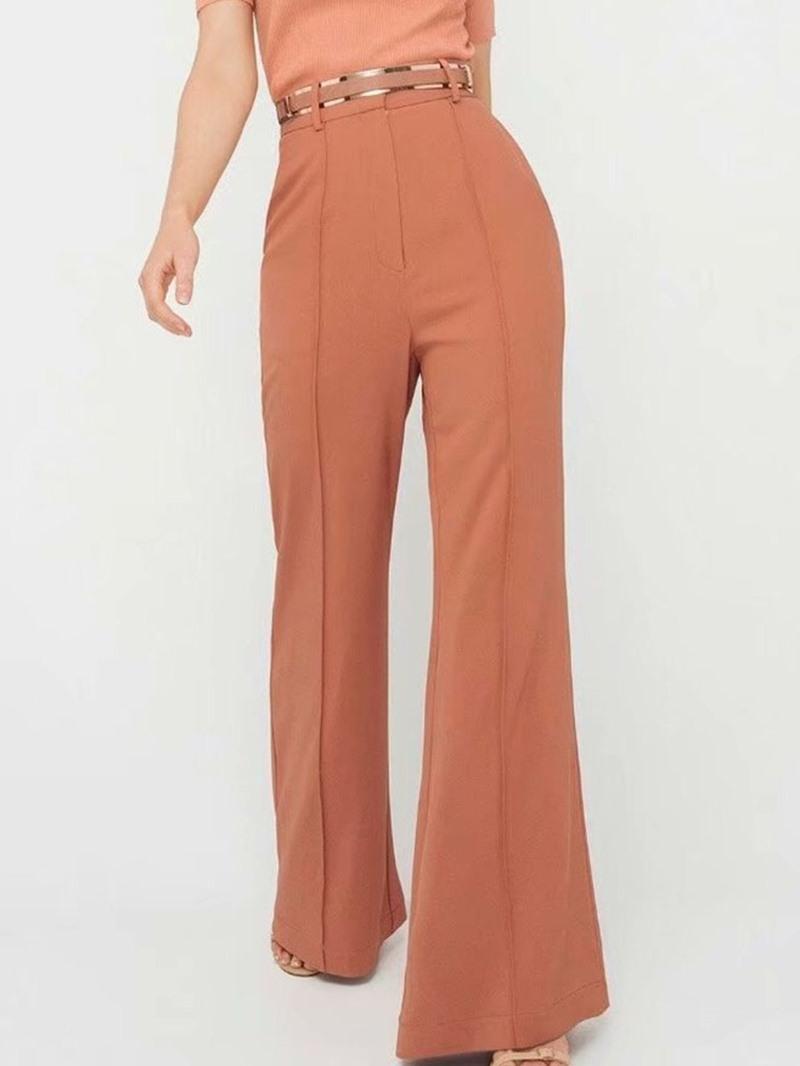 Ericdress Zipper Loose Plain Full Length Casual Pants