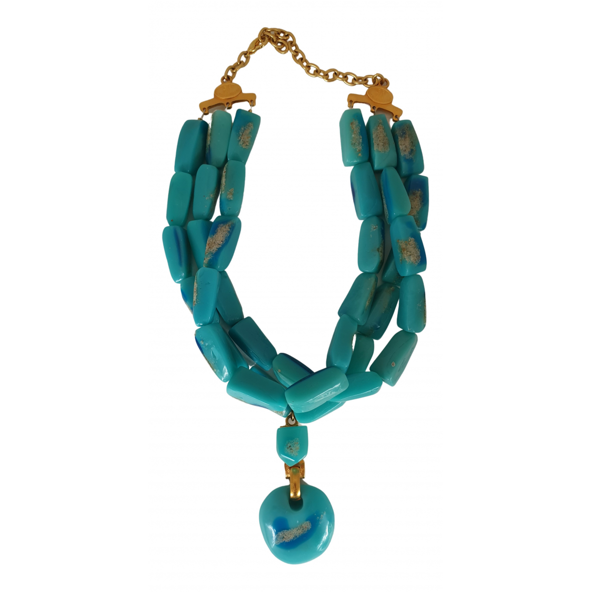 Georges Rech \N Turquoise Metal necklace for Women \N