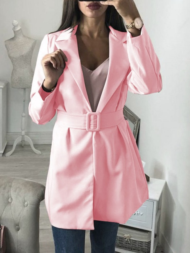 Ericdress Long Sleeve Lace-Up Notched Lapel Regular Women's Casual Blazer